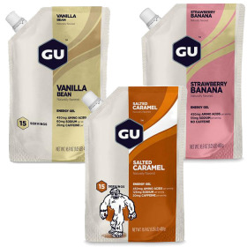 GU 15 SERVINGS ENERGY GEL POUCH
