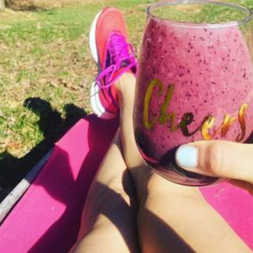 Inflammation fighting Beet, Banana, and Blueberry Smoothie!