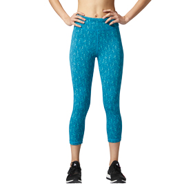 ADIDAS PERFORMER MEGA PIXEL-PRINT HIGH-RISE 3/4 TIGHT WOMENS