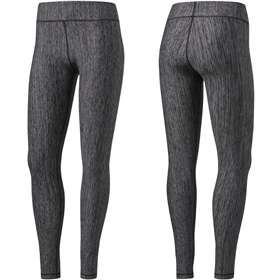 ADIDAS MID RISE WOMENS HEATHERED TIGHT