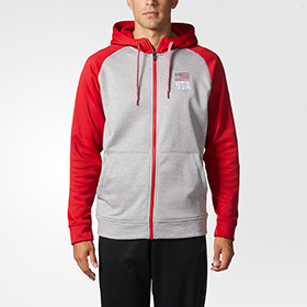 ADIDAS USA TECH FLEECE FULL ZIP MEN'S