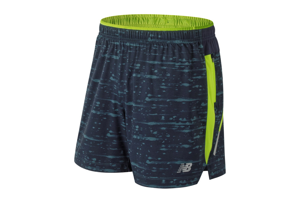 MEN'S NEW BALANCE PRINTED IMPACT SHORT 5 INCH