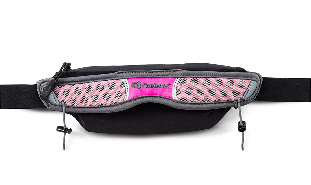 FUEL BELT HELIUM STRETCH BELT GREY/PINK POW