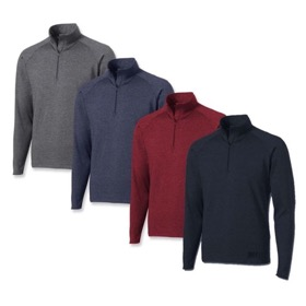 MEN'S FRANK SHORTER HALF-ZIP MIDWEIGHT DRI-RUN SPORTOP